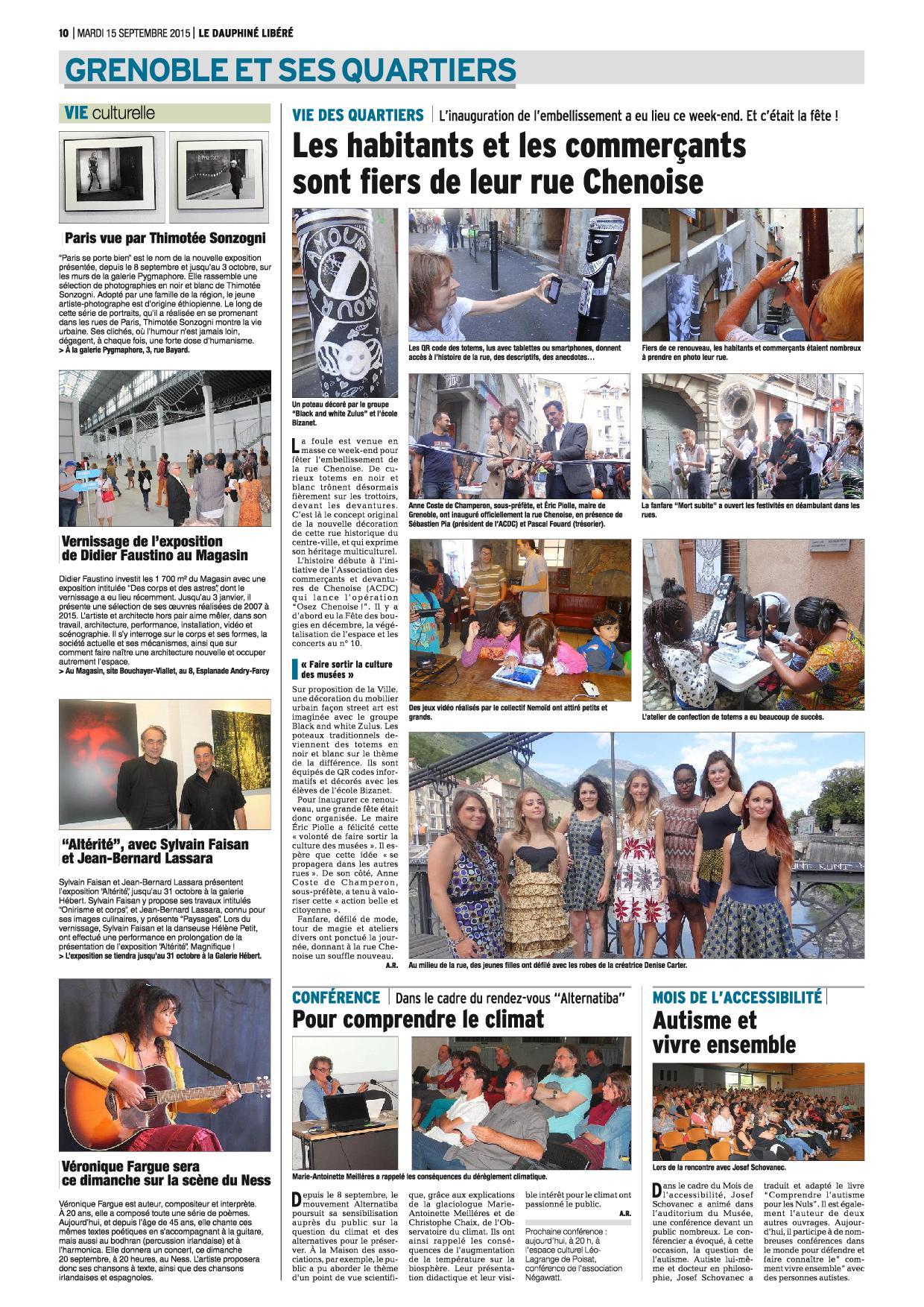 Dauphiné Libéré 15 septembre 2015 page 10