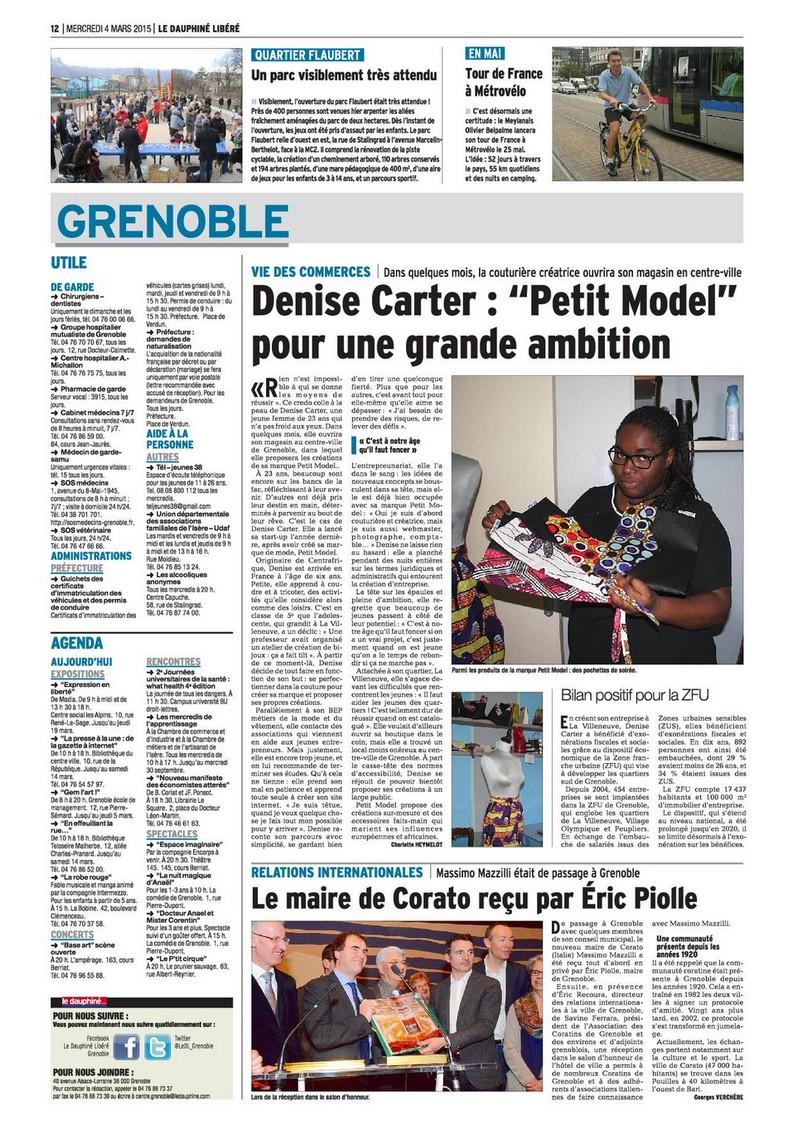 Dauphiné Libéré 4 mars 2015 page 12