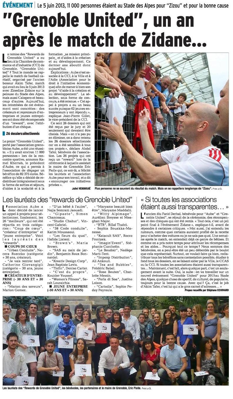 Dauphiné Libéré 5 juin 2013