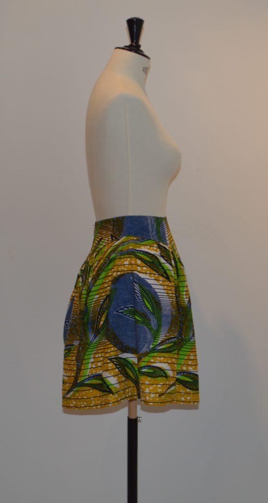 Jupe taille haute wax (coté)