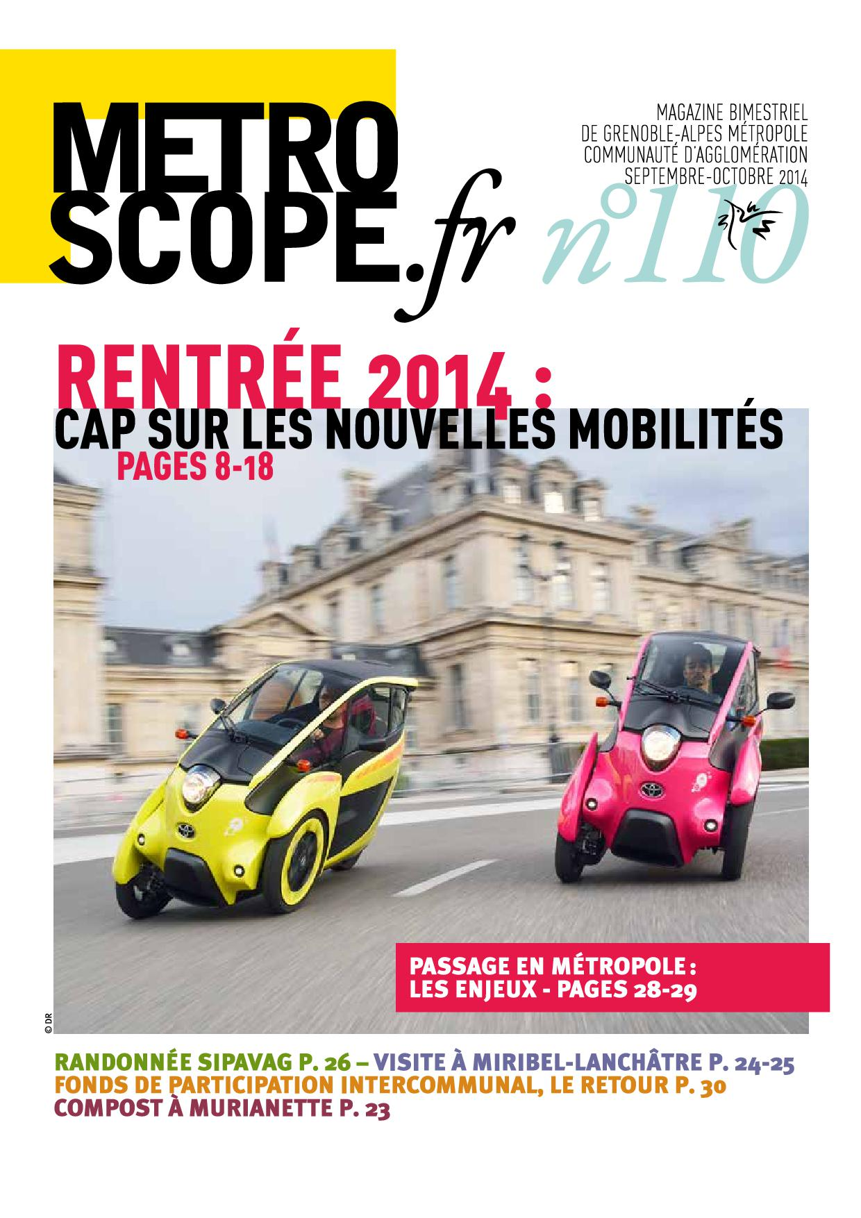 Metroscope 110 couverture septembre 2014