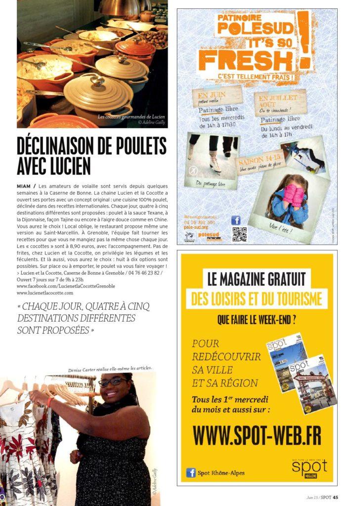 Spot magazine couverture juin 2015 page 45