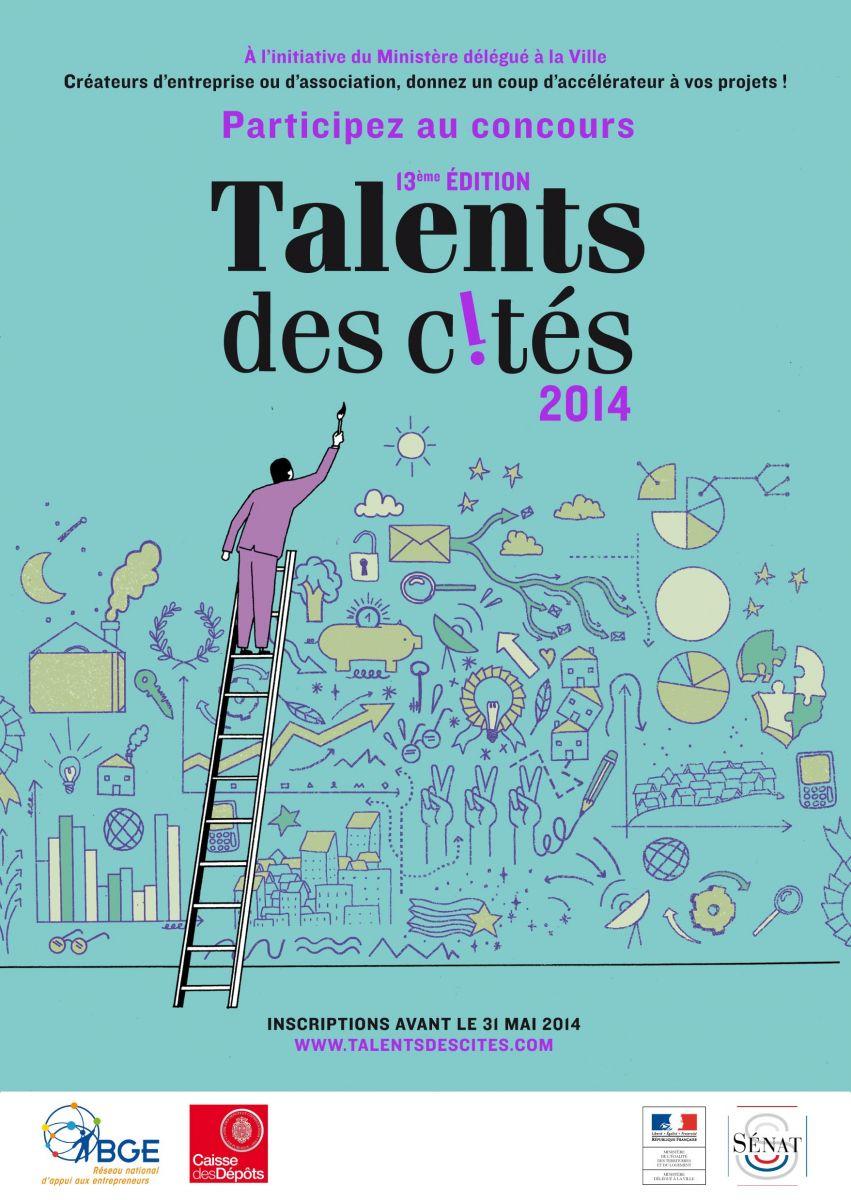 """Affiche """"Talents des cités 2014"""""""