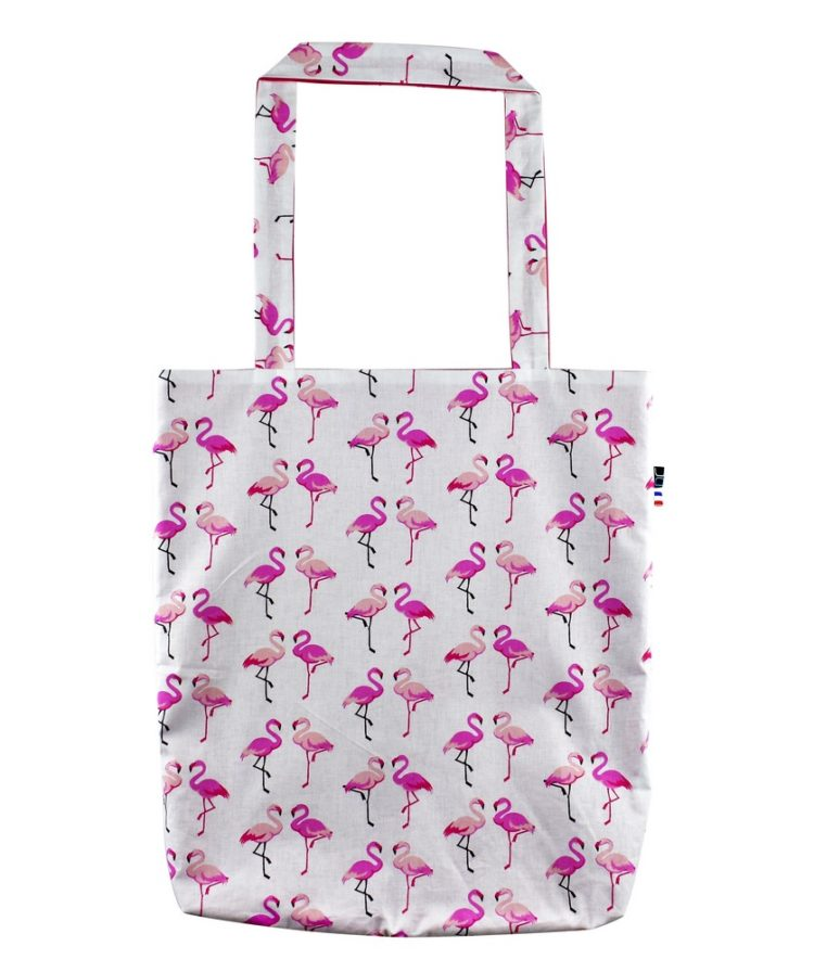 Tote bag Paris Flamant roses